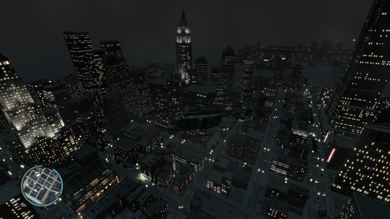 gta 4 liberty city at night