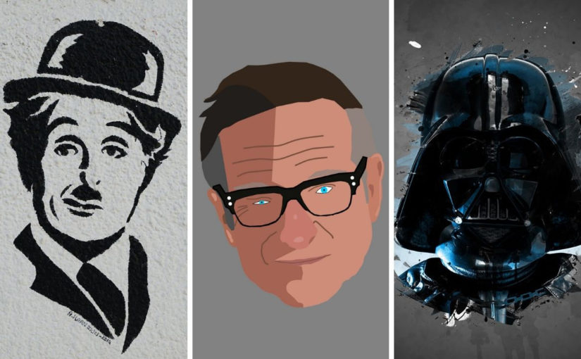 Charlie Chaplin, Robin Williams, Darth Vader